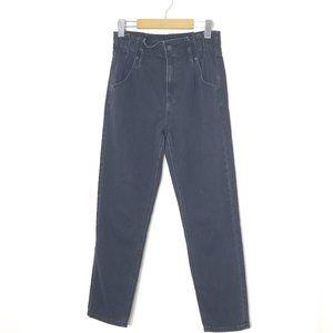 American Eagle | Black Pleated Mom Jeans High Rise Straight Leg 2
